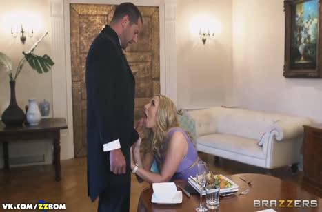 Paige Turnah изменяет старому мужу с крепким дворецким