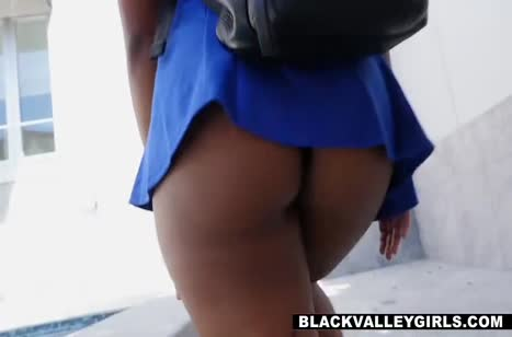 Африканка с большой задницей опробовала секс с белым №1