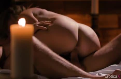 Mona Wales устроила с мужем красивое порно при свечах №5